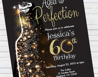 aged to perfection invitation etsy