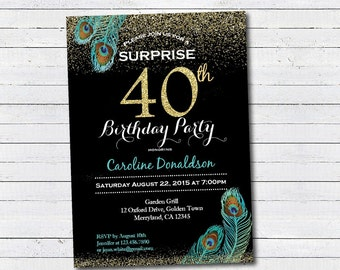 surprise 50th birthday party invitation woman ladies etsy