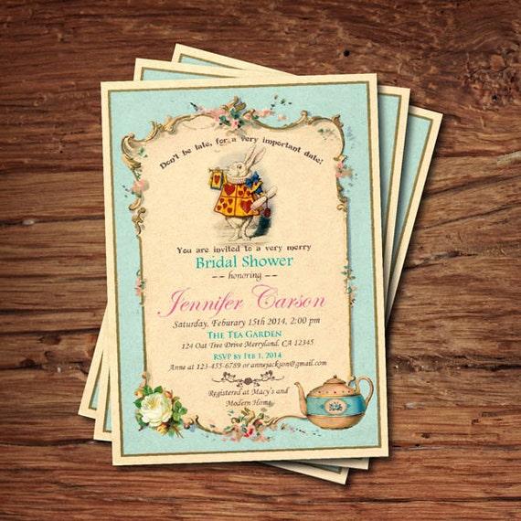 elegant mad hatter tea party invitation or 81 mad hatter tea party bridal shower invitation wording