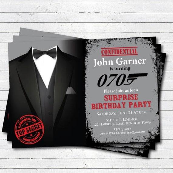 surprise 70th birthday invitation man surprise birthday etsy