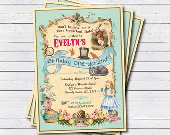 Mad Hatter Birthday Invitation Printable Mad Hatter Tea