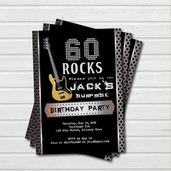 Uberraschen Sie 60 Geburtstag Einladung 60 Etsy