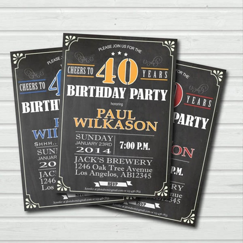 80th Birthday Invitation Man Or Woman Surprise