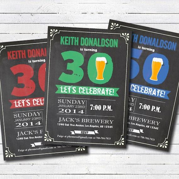 Beer Birthday Invitation Adult Man Birthday Bar Crawl Pub Etsy