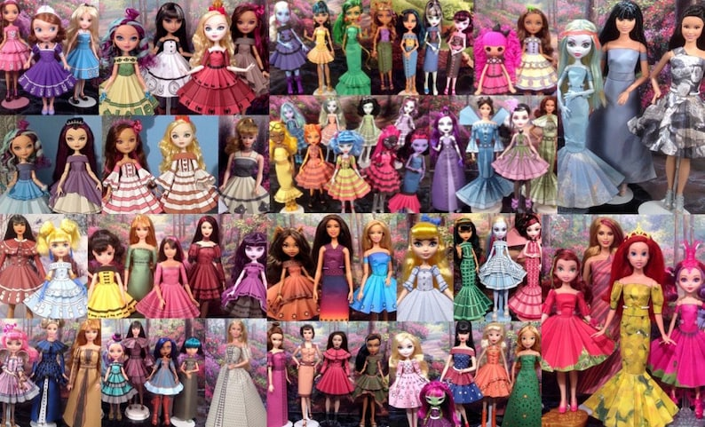 Printable Doll Clothes Mega Pack  Fits Barbie Ever After image 0