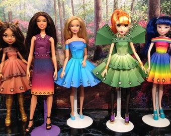 Vanessa Printable Doll Clothes - Fits Barbie, Winx Club, Fairy Tale High and More!