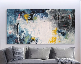 Custom Sizes - LARGE Original Modern Abstract Painting - FREE SHIPPING - Large  Wall Art Original Painting on Canvas - Texture Palette Knife d2f14de21