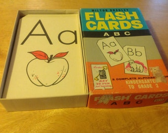 Milton Bradley Vintage ABC Flashcards