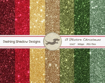 Garland Lozenge cardstock paper Garland of high quality glitter paper patterned front and back embossed paper