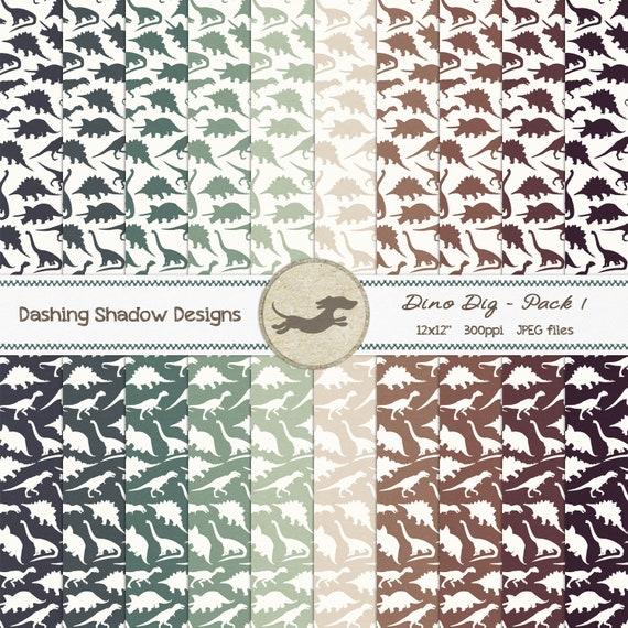 Dinosaur /'Jungle Camo/' Theme *Printable Digital Party Paper Pack* DIY Scrapbook Paper  12X12 Pattern  Dino Paper  Jurassic Park  Green