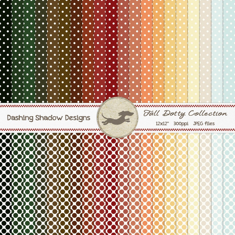 graphic regarding Dotty Paper Printable identified as Electronic Printable Sbook Craft Paper - Slide Dotty Assortment - Seamless Polka Dots Autumn Brown Pink - 12 x 12\