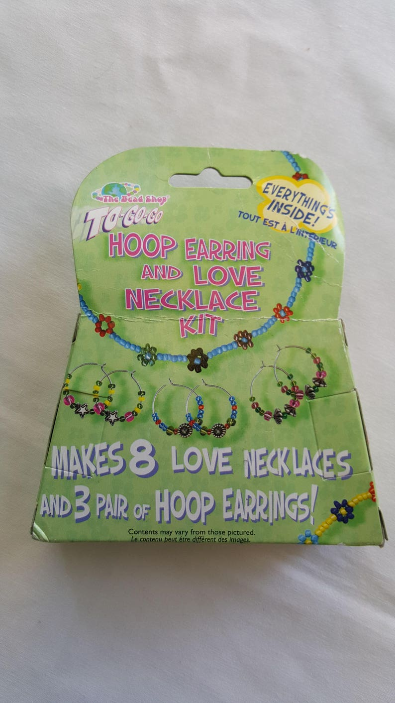Create Your Own Design Jewelry Multicolored Beads, Make Your Own Jewelry Hoop Earring And Love Necklace Kit
