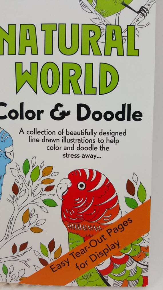 Natural World Color And Doodle Coloring Book 10 3 4 X 7