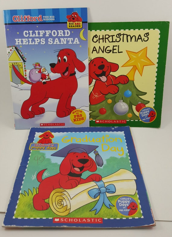 Fine Clifford The Big Red Dog Books Lots Of Love Clifford Helps Santa Graduation Day Christmas Angel Used Books Machost Co Dining Chair Design Ideas Machostcouk