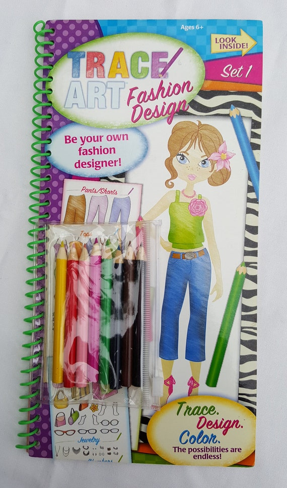 Lee Publications Trace Art Fashion Design Kit 8 Colored Etsy