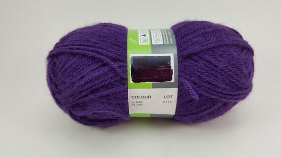 Gloria Canan Hand Strickgarn 100 % Acryl Pflaume lila | Etsy