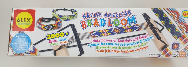 Beaded Ring Kit,Do It Yourself Kit Alex Native American Bead Loom Kit Bead Bracelet Maker Kit Seed Beads Jewelry Kit Jewelry Maker Kit