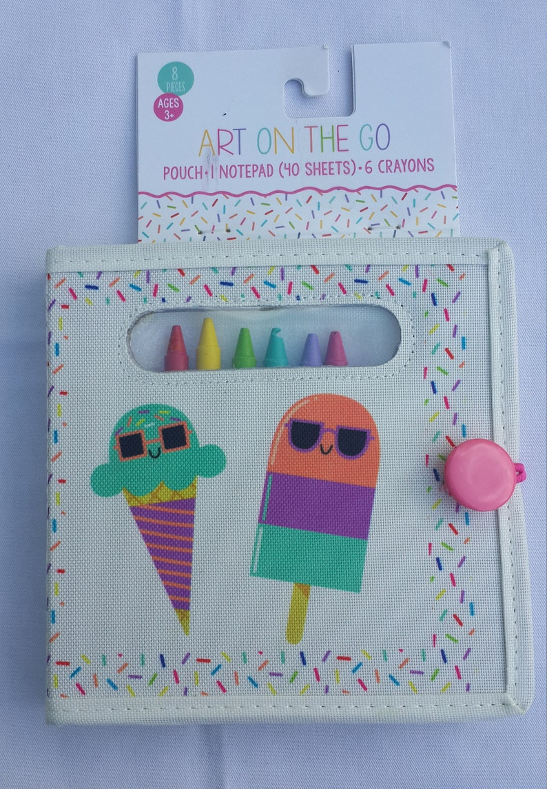 Drawing Kit With Crayons And Drawing Paper In A Pouch Take Your Art To Go Art On The Go