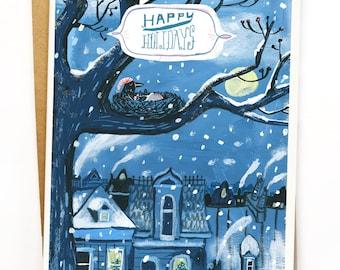 Cozy crows greeting card set