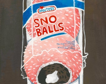 Snoballs. A limited edition giclee print of an original illustration.