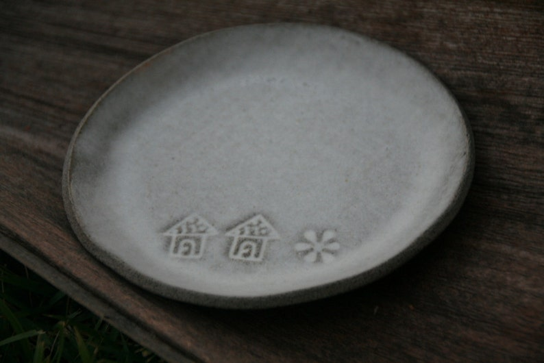house warming gift Set of two  side plates Christmas gift idea ceramic dishes pottery small side plates with a mat cream glaze