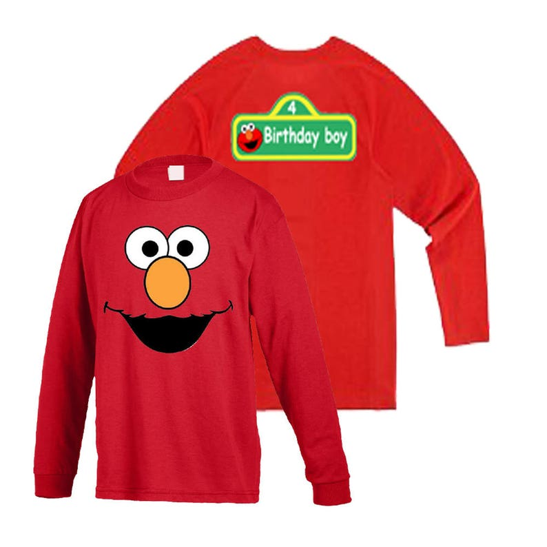102192d3 Elmo cookie Oscar Kids Long Sleeves with Custom sign option | Etsy