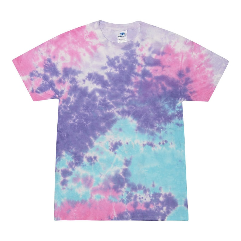 Tie  Dye Neon Bright Colors Fun New T-Shirts Cool  Kids Size COTTON CANDY