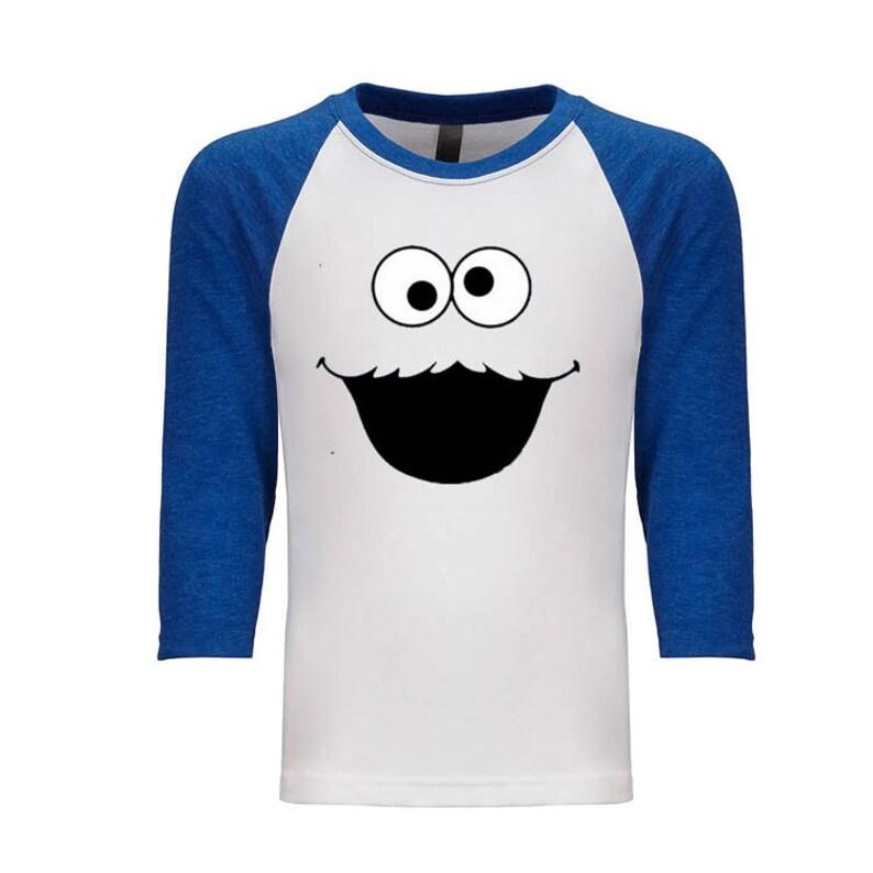 e9414015 Cookie Monster Elmo Oscar And Abby T-shirt 3/4 Sleeve | Etsy