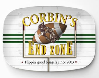 Personalized Tailgater Platter, Personalized Melamine Serving Platter, Baseball Platter, Personalized Serving Tray, Tailgaters Gift