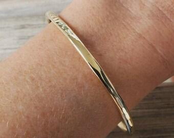 woman jewelry,Brume de Terre Gold rush bracelet brass bracelet twisted bracelet