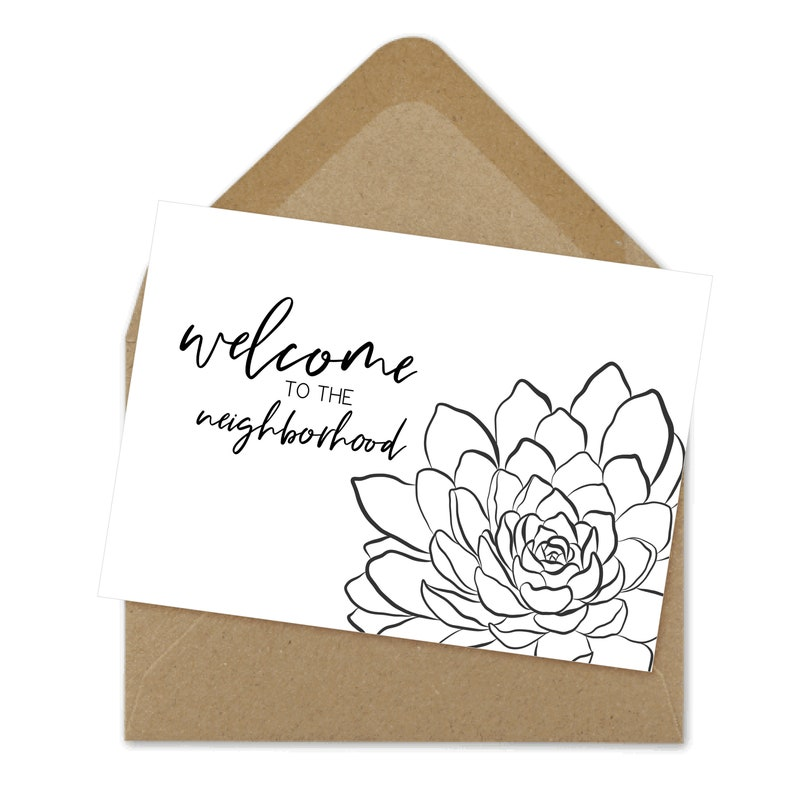 picture relating to Welcome to the Neighborhood Printable identify welcome in direction of the regional printable card, neighbor card, local welcome A6