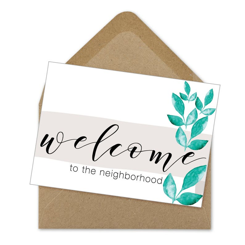 graphic about Welcome to the Neighborhood Printable titled welcome toward the nearby printable card, neighbor card, nearby welcome A6