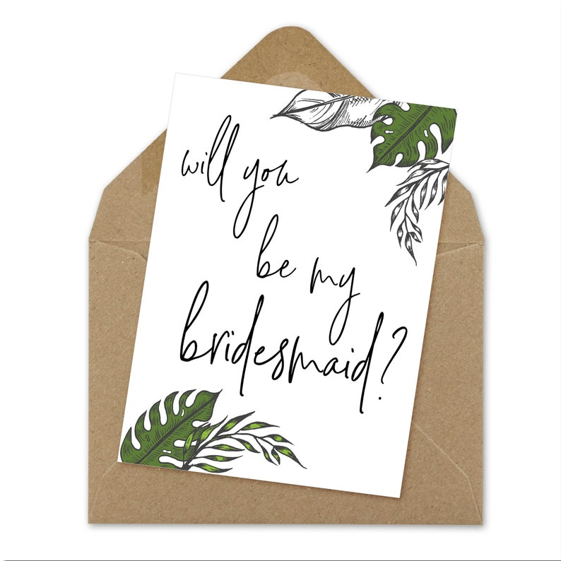 image regarding Bridesmaid Proposal Printable named bridesmaid proposal printable card A6