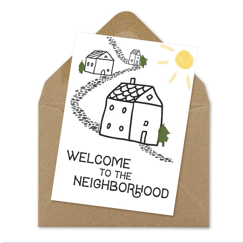 graphic regarding Welcome to the Neighborhood Printable identify welcome towards the local printable A6