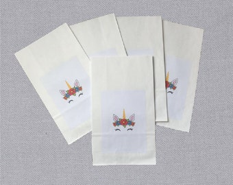 Unicorn Party Bags. 5 Pack.