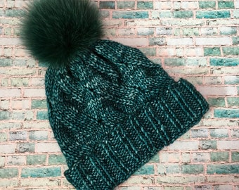 Winter hat from Malabrigo with Pompon