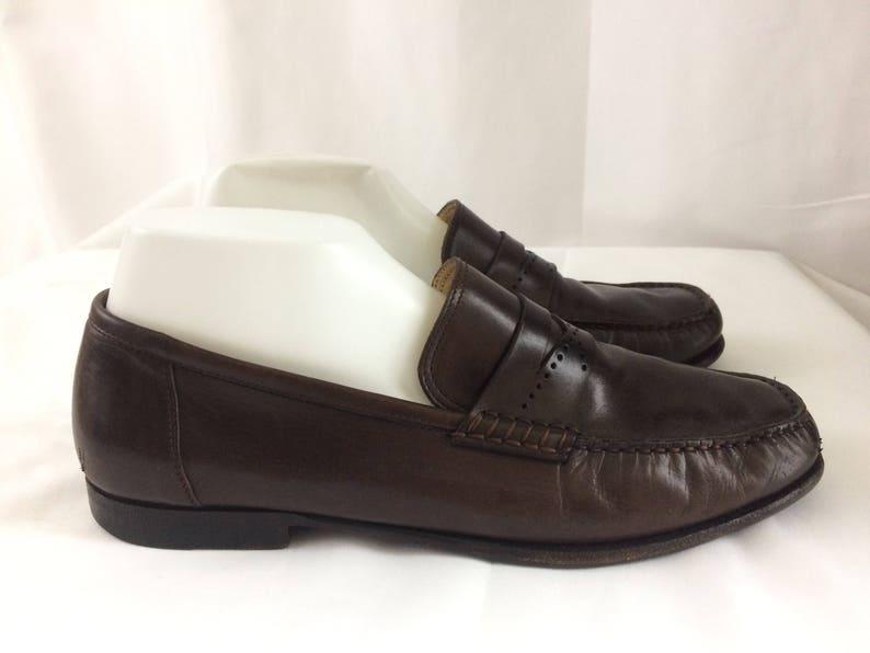 9ad8739718f Vintage Santoni Men Brown Penny Loafers