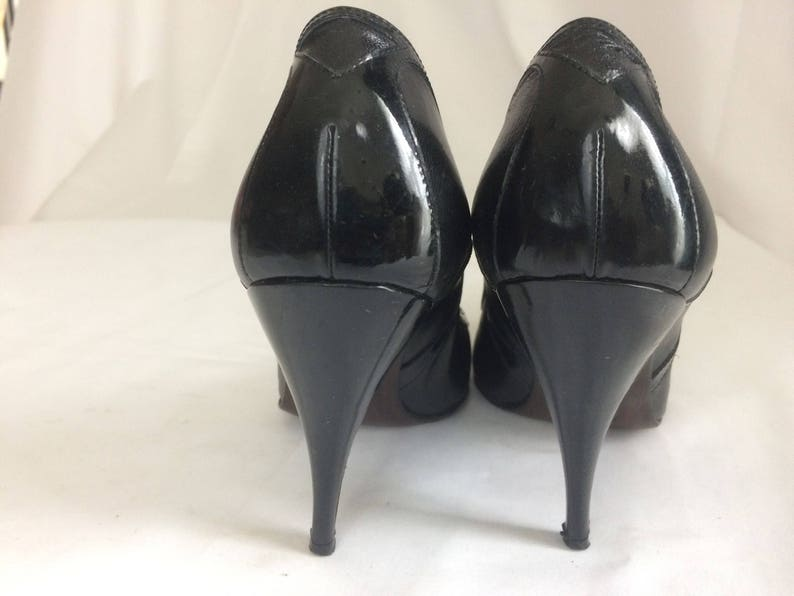 97b652d330768 Sexy Black Leather Vintage Bottega Veneta Woman High Heel Pumps! Size 7B