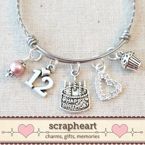 12th BIRTHDAY GIRL Birthday Charm Bracelet