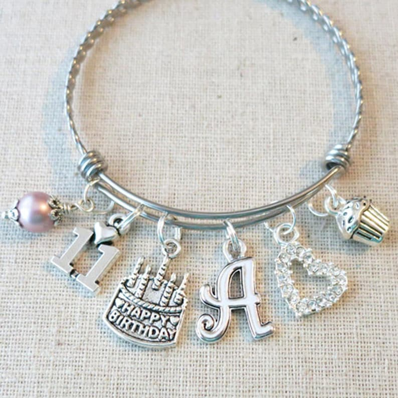 11th BIRTHDAY GIRL Birthday Charm Bracelet