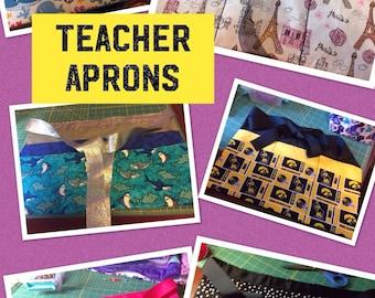 Teacher Apron with 6 Pockets
