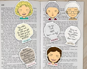Golden Girls Magnetic Bookmarks Set - Dorothy, Rose, Blanche, and Sophia Clips