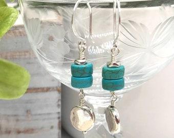 Minimalist silver dangle earrings