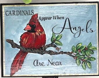 Painted Cardinal Remembrance Trinket Box, Custom Jewelry Box, Git for Mom, Sympathy Gift, Memorial Gift, thinking of You, Loss of Loved One