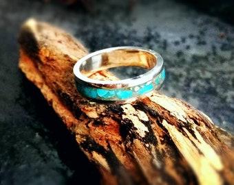 Inlaid Kingman Turquoise ring