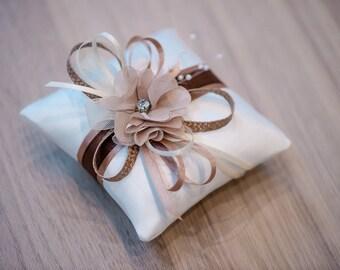 Ringkissen Wedding Pillow Hochzeit Ringe Ivory Natur Braut Etsy