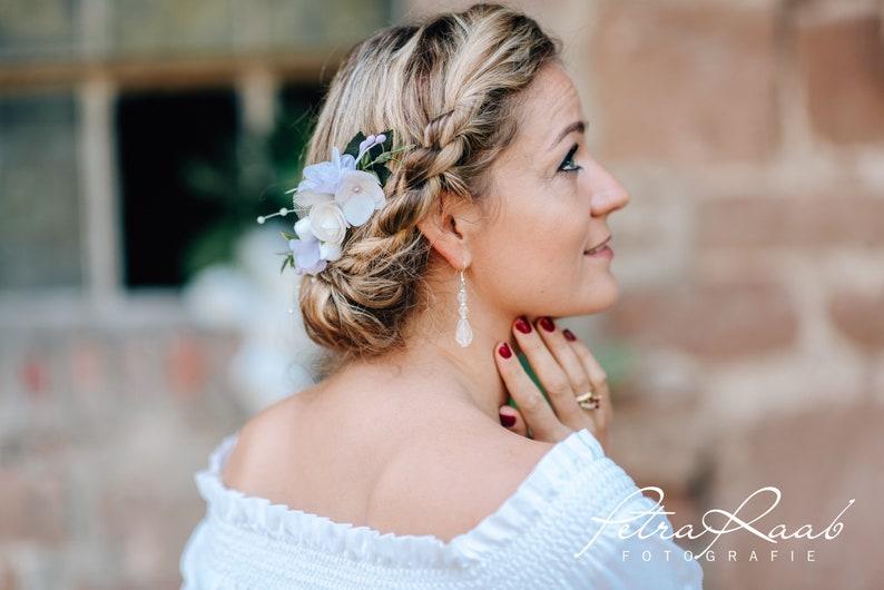 R14 hair accessories hair comb flowers flowers Hortensia Oktoberfest bridal wedding hairstyles wedding hairdress headpieces fascinator wreath