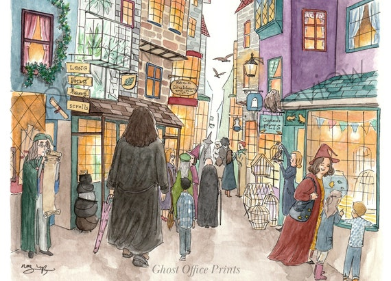 Art Print Harry Potter Hagrid on Book Page from Philosopher/'s Stone
