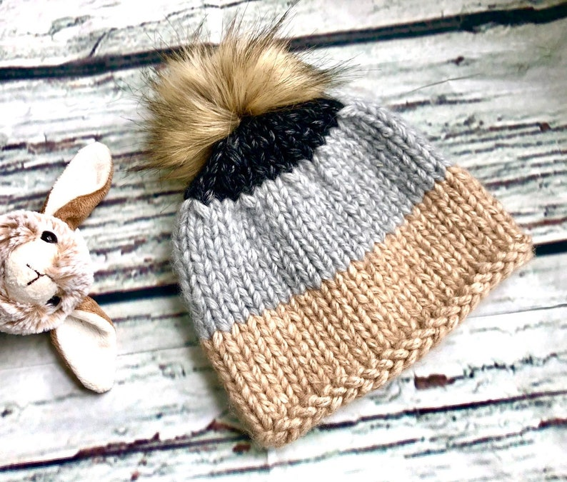 Baby Girl Beanie with Pompon Tolder Girls Spring and Fall Beanie Wool Beanie Hat Toddler Girl Knit Hat Knitted Hat for Girls