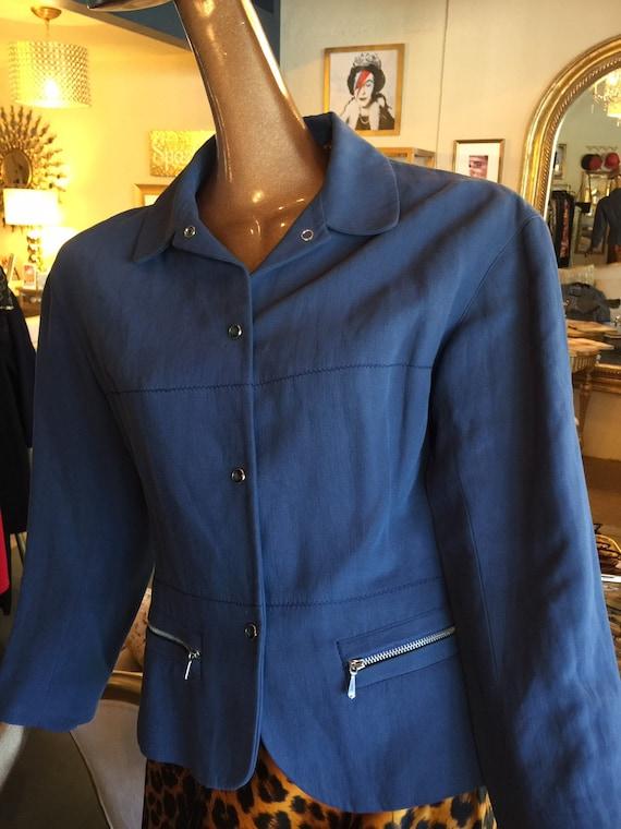 Jean Paul Gaultier blue jacket